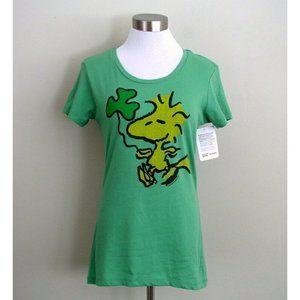 Mighty Fine Womens Peanuts Tee Woodstock Green LG